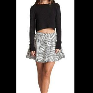 Bardot Black & White Circle Skater Skirt Sz 8